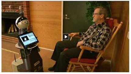Kuva 3. Kaverirobotin testausta, kuva Yle Areenan videosta