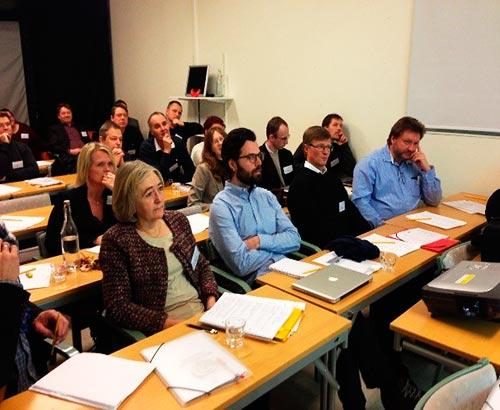 Picture 1. Stakeholders at the research school kick-off listening to a presentation of TSM.