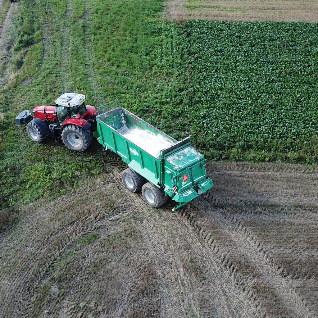 Figure 2. In structural liming it is important that the lime will be tilled quickly into the field in dry and warm conditions. Photo by Sakari Malmilehto.