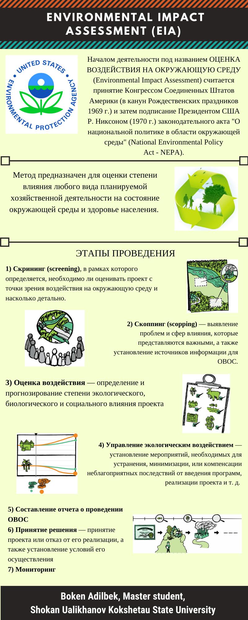 Kuva 2. Partnereiden posteri ympäristövaikutusten arvioinnista.