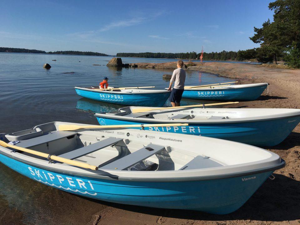 Kuva 4. Digitaalinen Skipperi-kaupunkivenepalvelu kokeilussa Espoossa (Karoliina Korpela, Espoo Marketing Oy).