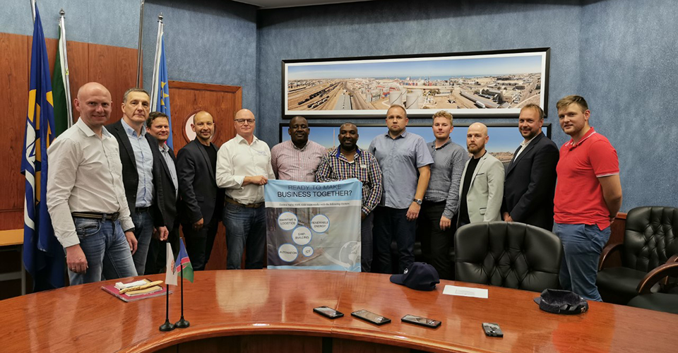 Members of the SME Aisle project having a meeting in Namibia in Autumn 2019.