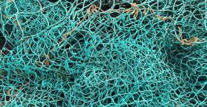 Lähikuva kalastusverkosta.