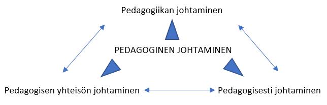 Kuvio pedagogisen johtamisen ulottuvuudesta.